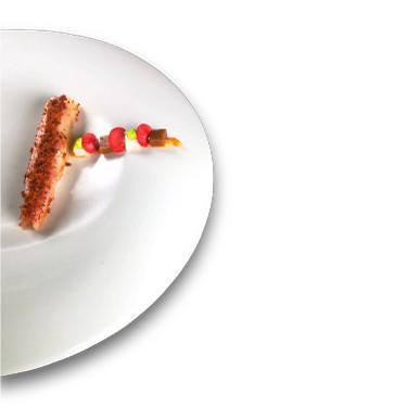 Receta de Bogavante, tocino y confeti de chorizo