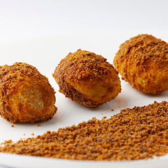 Recetas de Croquetas con Confeti de Chorizo en polvo.