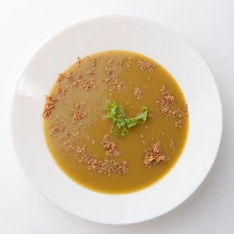 Receta de Puré de Verduras con Confeti de Jamón en polvo.