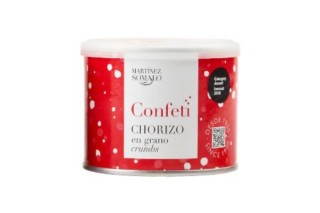 Confeti de Chorizo en grano Martínez Somalo. Bote de 85g de Chorizo deshidratado en grano.