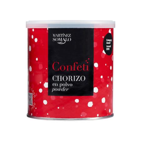 Confeti de Chorizo en polvo Martínez Somalo. Bote de 350g de Chorizo deshidratado en polvo.